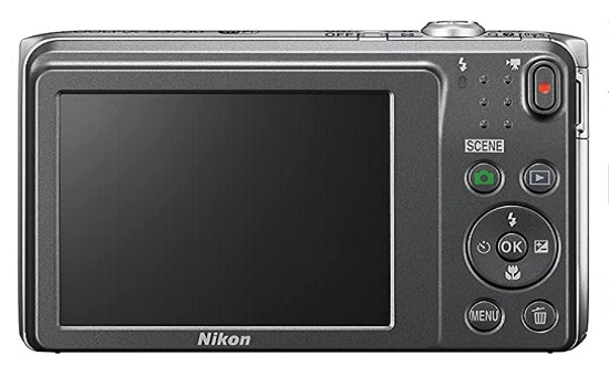 Nikon COOLPIX S3700 Digital Camera With 8x Optical Zoom And Built-In Wifi (Silver)