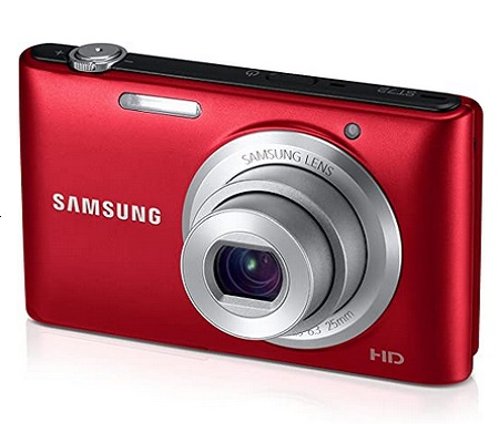 Samsung ST72 16.2 Mega Pixel Digital Camera With 3-Inch LCD Display (Red)