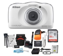 Nikon Coolpix W150 Digital Camera (White) Accessory Bundle