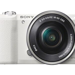 Sony A-5100 16-50mm Mirrorless Digital Camera With 3-Inch Flip Up LCD (White)