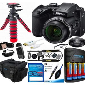 Nikon COOLPIX B500 Digital Camera (Black) - Essential Accessories Bundle