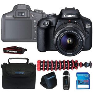 Canon EOS 2000D / Rebel T7 Camera With EF-S 18-55mm f/3.5-5.6 III Lens Black